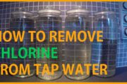 HOW TO REMOVE CHLORINE FROM TAP WATER...