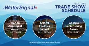 WaterSignal October Trade Show Information...