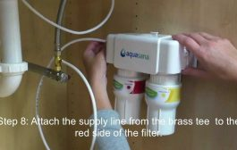 How to install an Aquasana AQ-5200 under counter drinking water f...