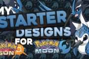 STARTER CONCEPT DESIGNS FOR POKEMON SUN AND MOON | Water Type...
