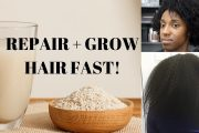 Rice Water for Hair Growth | How to use rice water on Type 4 Hair...