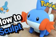 Sculpting Mudkip cute Water-type Pokémon in Clay step by step...