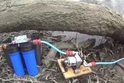 12 Volt water pump, Shurflo pump and Water Filter for filling RV ...