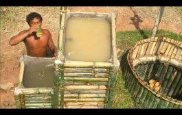 Search groundwater and Build Water filter in the forest by ancien...