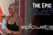 Escape Glass Water Bottle with filter by Epic Water Filters...